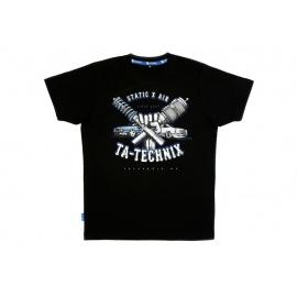 TA Technix tričko s potiskem hrudi by SourKrauts, černé