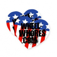 Wheel Whores samolepka - Stars and Stripes (2ks)