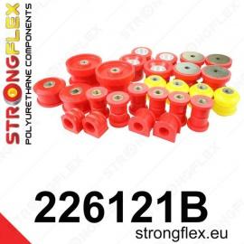 Strongflex sportovní silentbloky Seat Leon 1M 4x4 vč. Cupra, sada pro přední a zadní nápravu + diferenciál