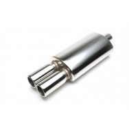 TA Technix sportovní nerezový tlumič výfuku - dvojitá kulatá koncovka, průměr 2x76mm