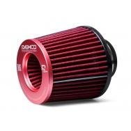 Raemco vzduchový filtr - univerzální, vstup 77mm, červený