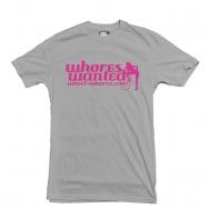 Wheel Whores tričko uni - Whores Wanted, šedé, vel. XXL