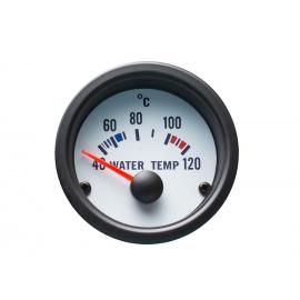 Autogauge palubní přístroj - teplota vody s bílým podkladem