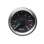 Autogauge přídavný ukazatel tlaku vzduchu dvouručkový černý 52mm