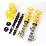 ST suspensions (Weitec) výškově a tuhostně stavitelný podvozek VW Golf VI; (1K) průměr uchycení předního tlumiče 55mm, zatížení přední nápravy 1106-1170kg