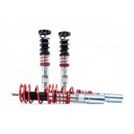 Kompletní výškově stavitelný podvozek H&R Monotube pro Honda Civic s uchycením př. tlumiče na vidlici r.v. 89> s pohonem předních kol