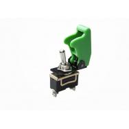 Vypínač 12V včetně krytky - zelený