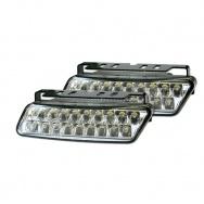 LED světla PIRANHA pro denní svícení s homologací ECE R87, šířka 100mm