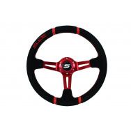 SLIDE sportovní semišový volant - černý, průměr 35cm