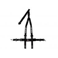 Raemco sportovní 3-bodový bezpečnostní pás - černý odpojitelný