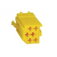 mini ISO konektor samostatný žlutý - samec