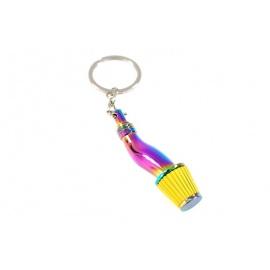 Přívěšek na klíče - sání s filrem, Neo chrom / žlutá