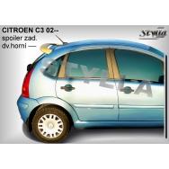 Stylla spoiler zadních dveří Citroen C3 (2002 - 2009) - horní