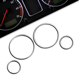 Chromované rámečky budíků BMW E39