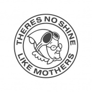 Mothers samolepka kulatá, 15 cm, šedá gunmetal - na světlý podklad