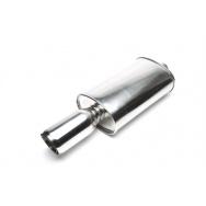 TA Technix sportovní nerezový tlumič výfuku - zkosená kulatá koncovka, 90/75mm