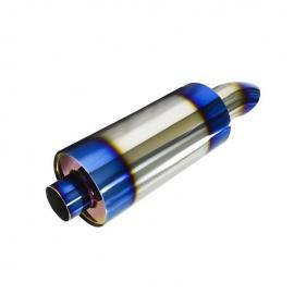 Sportovní nerezový výfuk (tlumič) univerzální - koncovka 1x 75 mm zahnutá