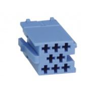 mini ISO konektor samostatný modrý - samec