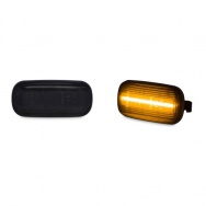 Boční blinkry černé - Lightbar pro Audi A4 (8E, B7, 2005-2008)
