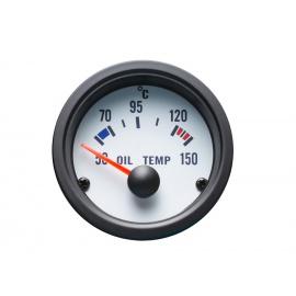 Autogauge palubní přístroj - teplota oleje s bílým podkladem